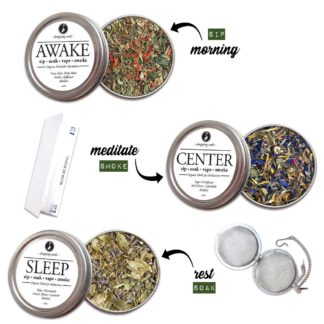 Organic Herbal EMOTIONAL KIT for Relaxation, Motivation & Mediation with HEMP flower cannabinoids for Smoking Tea Bath Vape SALE COUPON RIDETHEWAVE