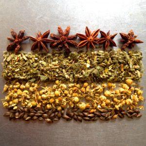 Smokable herbal tea, vape and bath