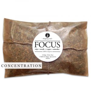 FOCUS Organic Herbal Smoke Tea Bath Vape Aromatherapy Blends