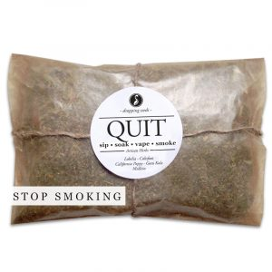 QUIT Organic Herbal Smoke Tea Bath Vape Aromatherapy Blends