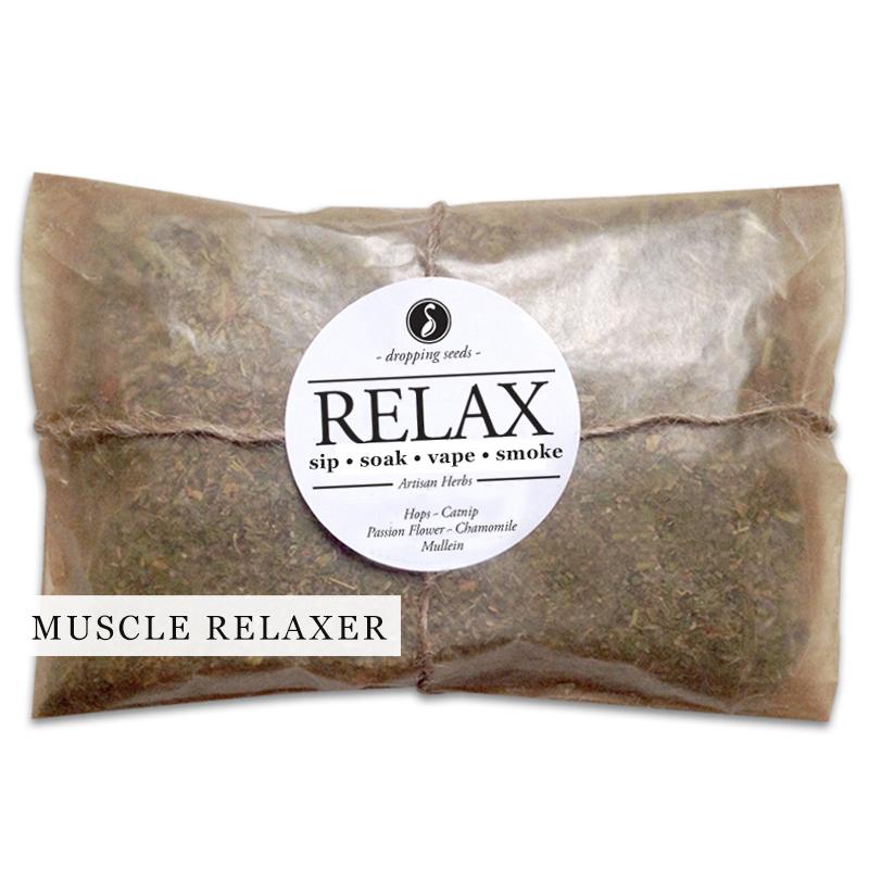 RELAX Organic Herbal Smoke Tea Bath Vape Aromatherapy Blends