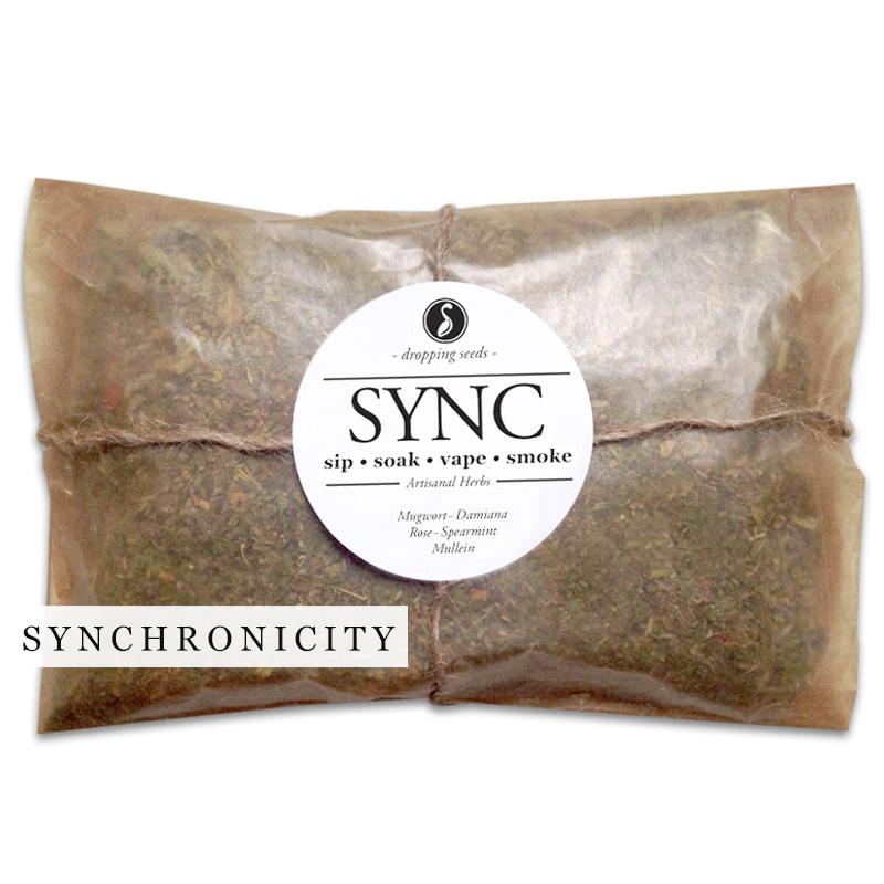 SYNC Organic Herbal Smoke Tea Bath Vape Aromatherapy Blends