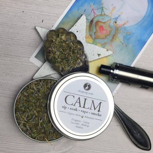 Calming Organic Herbs for Vaping in a dry herb vaporizer with Damiana, Catnip, Lavender, Skullcap + Mullein