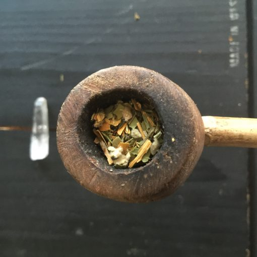 Motivating Organic Herbs for Concentration by Smoking in pipe, bowl or rollie with Ginkgo, Yerba Mate, California Poppy, Spearmint + Mullein