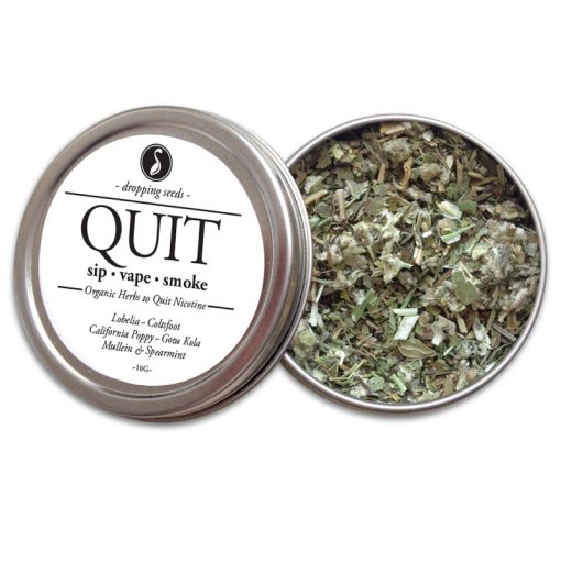 QUIT Organic Herbs for Smoking Cessation, Quit Nicotine Cigarettes by Smoking Tea Bath Vape with Lobelia, Coltsfoot, California Poppy, Gotu Kola + Mullein