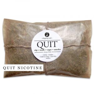 QUIT Nicotine Organic Herbal Smoke Tea Bath Vape Aromatherapy Blends