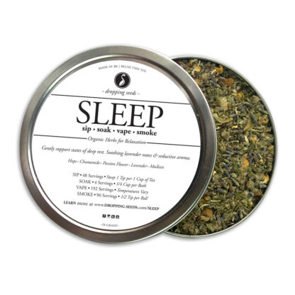 Relaxing Organic Herbs for Sleep for Vaporizing in dry herb vaporizer with Hops, Chamomile, Passion Flower, Lavender + Mullein