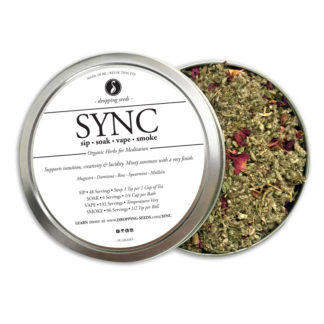SYNC Organic Herbs for Meditation by Smoking Tea Bath Vape with Mugwort, Damiana, Rose, Peppermint + Mullein