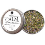 CALM Organic Herbs for Relaxation by Smoking Tea Bath Vape with Damiana, Catnip, Lavender, Skullcap + Mullein