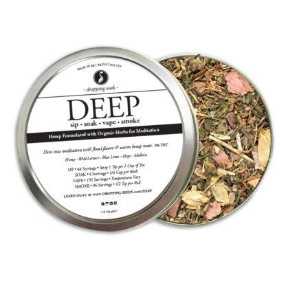 Organic Hemp Fortified Herbal Smoke Tea Bath Vape Aromatherapy Blends DEEP