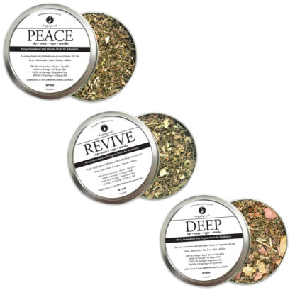 Organic Hemp Fortified Herbal Smoke Tea Bath Vape Aromatherapy Blends Trio