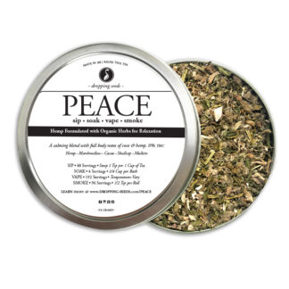 Organic Hemp Fortified Herbal Smoke Tea Bath Vape Aromatherapy Blends PEACE
