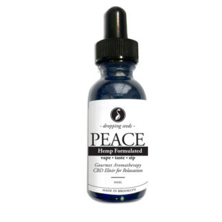 Organic Hemp Fortified Herbal Vape Elixir and Bitter PEACE