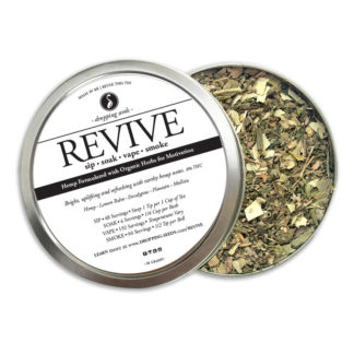Organic Hemp Fortified Herbal Smoke Tea Bath Vape Aromatherapy Blends REVIVE