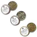 Organic Herbal Trio to quit smoking cessation by Smoking Tea Tisanes Bath Vape with Damiana, Catnip, Lavender, Skullcap, Ginkgo, Yerba Mate, California Poppy, Spearmint, Lobelia, Coltsfoot, California Poppy, Gotu Kola + Mullein