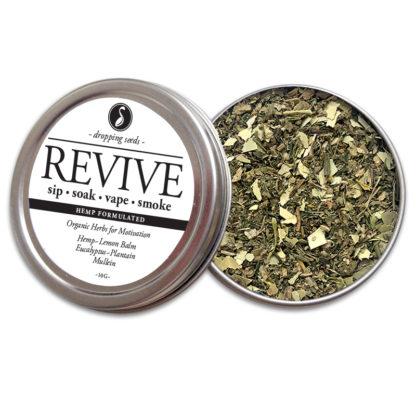 REVIVE Organic Herbs for Motivation with HEMP flower cannabinoids for Smoking Tea Bath Vape with Hemp,Lemon Balm