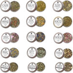All 15 Organic Hemp Formulated Herbal Tins for Smoke Blends for Relaxation, Motivation & Mediation for Smoking Tea Bath Vape